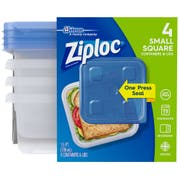 Ziploc Small Round One Press Food Stooge Container, 4 count per pack -- 6 per case.