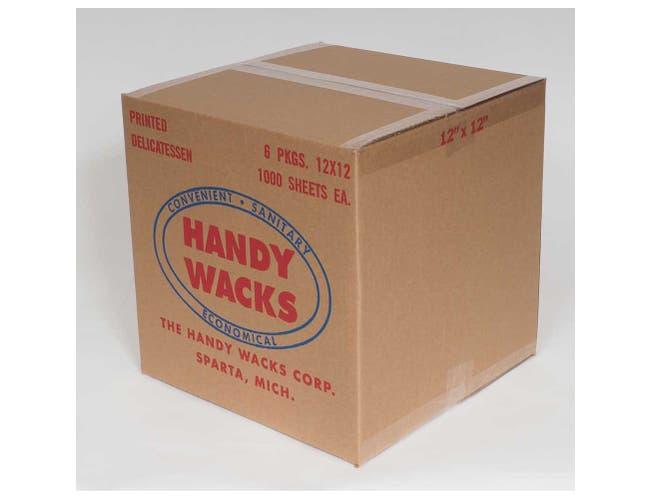 Handy Wacks Stock Cappuccinno Flat Deli Paper, 12 x 12 inch -- 6000 sheets per case.