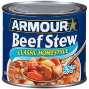 Armour Classic Homestyle Beef Stew, 20 Ounce -- 12 per case.
