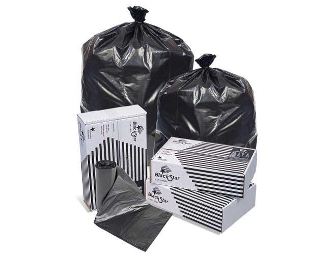 Pitt Plastics Black Low Density Perforated Can Liner -- 1000 per case.