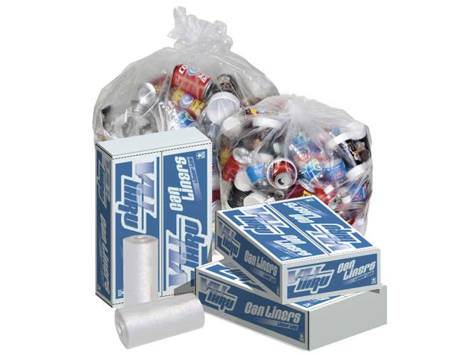 Pitt Plastics 24 x 23 Clear Perforated Can Liner Roll -- 1000 per case.