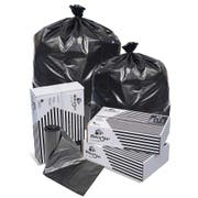 Pitt Plastics 33 x 39 Black Perforated Can Liner Roll -- 250 per case.