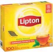 Lipton Tea Bag Cup, 100 count per pack -- 6 per case.