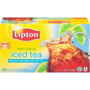 Lipton Family Size Iced Tea, 48 count per pack -- 6 per case.