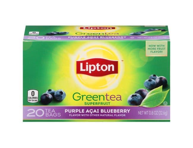 Lipton Purple Acai Blueberry Green Tea, 20 count per pack -- 6 per case.