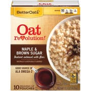 Oat Revolution Maple and Brown Sugar Instant Oatmeal with Flax, 15.1 Ounce -- 6 per case.