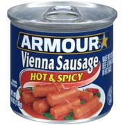 Armour Hot and Spicy Vienna Sausage, 4.6 Ounce -- 24 per case.