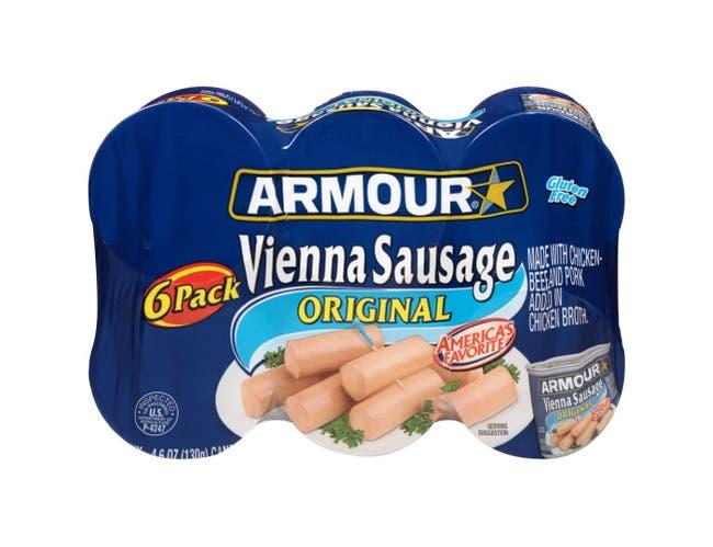 Armour Original Vienna Sausage, 27.6 Ounce -- 8 per case.