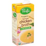 Pacific Foods Organic Low Sodium Chicken Broth, 32 Ounce -- 12 per case.