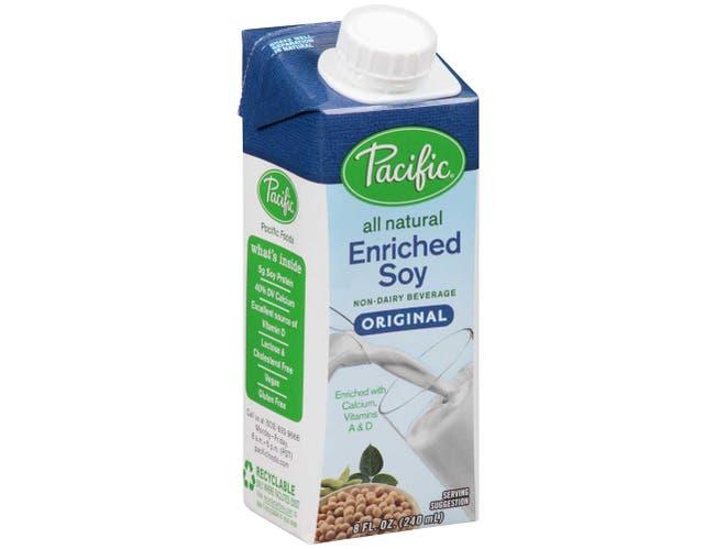 Pacific Foods Enriched Soy Original, 8 Ounce -- 24 per case.