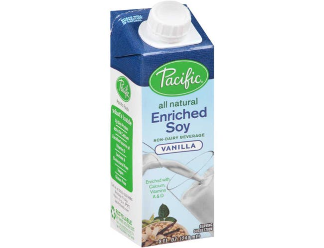 Pacific Foods Enriched Soy Vanilla, 8 Ounce -- 24 per case.