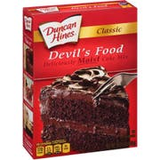 Duncan Hines Classic Devils Food Cake Mix, 15.25 Ounce -- 12 per case.