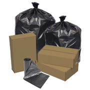 Pitt Plastics 41 x 54 1.5 Mil Black Can Liner Roll -- 100 per case.