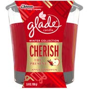 Glade Cherrish The Present Holiday Candle Jar, 3.8 Ounce -- 6 per case.