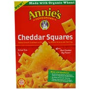 Annies Homegrown Organic Cheddar Squares Cracker, 7.5 Ounce -- 12 per case