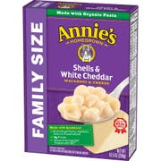 Family Size Shells and White Cheddar Macaroni Cheese, 10.5 Ounce -- 6 per case
