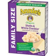 Annies Homegrown Organic Shells and White Cheddar, 10.5 Ounce -- 6 per case