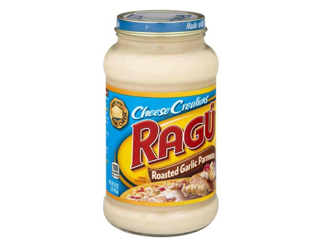 Ragu Roasted Garlic Parmesan Sauce, 16 Ounce -- 12 per case.