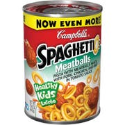 Campbells Spaghetti Pasta with Meatballs, 15.6 Ounce -- 24 per case.