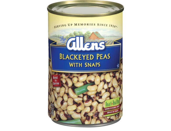 Allens Blackeyed Peas with Snaps, 15 Ounce Can -- 12 per case.