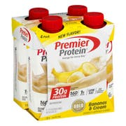 Premier Protein Bananas and Cream Shake, 11 Fluid Ounce -- 12 per case.
