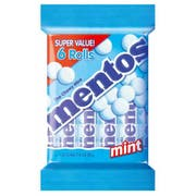 Mentos Chewy Mint Roll, 6 count per pack -- 12 per case.