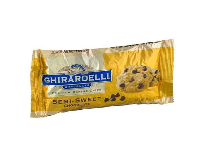 Ghirardelli Semi Sweet Chocolate Chips, 12 Ounce -- 12 per case.