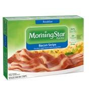 MorningStar Farms Breakfast Veggie Bacon Strips - 6 per pack -- 1 each.