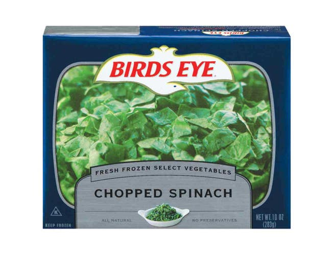 Birds Eye Chopped Spinach, 10 Ounce -- 24 per case.