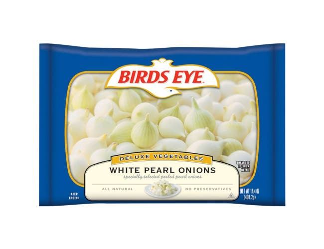Birds Eye White Pearl Onions, 14.4 Ounce -- 12 per case.