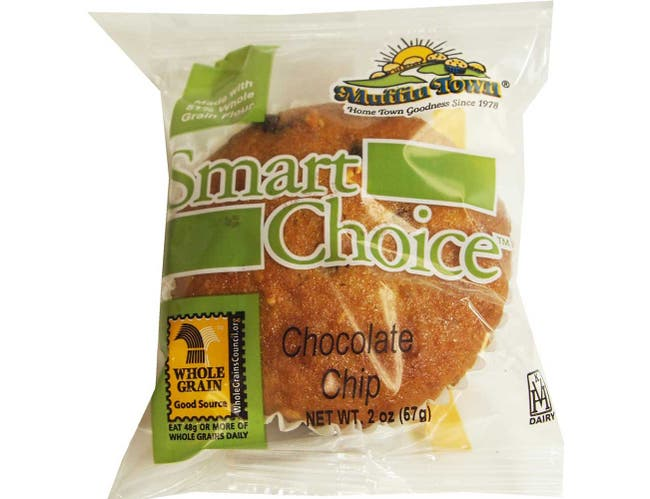 Smart Choice Wholegrain Chocolate Chocolate Chip Muffin Tops, 2 Ounce -- 60 per case.