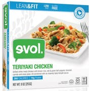 Evol Lean and Fit Teriyaki Chicken Single Serve Meal, 9 Ounce -- 8 per case.