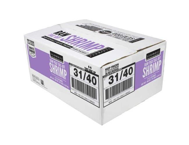 Seamazz 31-40 Raw Tail Off White Shrimp, 2 Pound -- 5 per case.