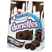 Hostess Donettes Double Chocolate Mini Donut, 11.25 Ounce -- 6 per case.