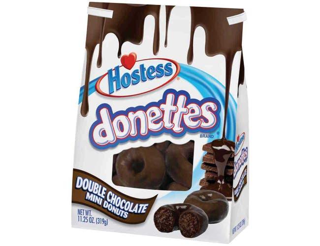 Hostess Donettes Double Chocolate Mini Donut, 11.25 Ounce -- 6 per case.