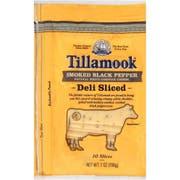 Tillamook Deli Shingle Sliced Smoked Black Pepper Cheese, 7 Ounce -- 12 per case.