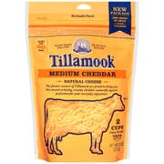 Tillamook Medium Farmstyle Shredded Cheddar Cheese, 8 Ounce -- 12 per case.