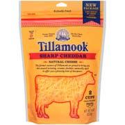 Tillamook Farmstyle Shredded Sharp Cheddar Cheese, 8 Ounce -- 12 per case.