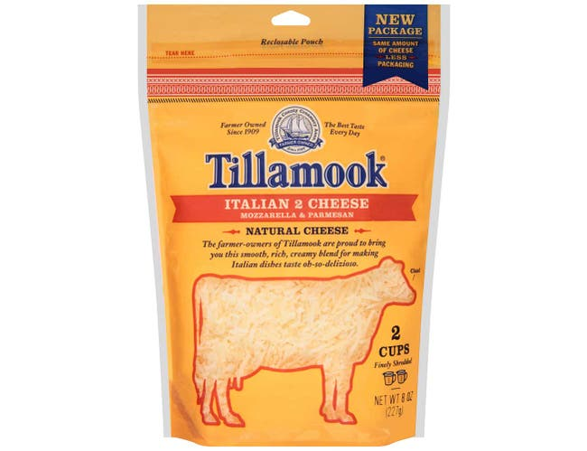 Tillamook Italian Farmstyle Shredded Cheese, 8 Ounce -- 12 per case.