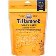 Tillamook Farmstyle Colby Jack Shredded Cheese, 8 Ounce -- 12 per case.