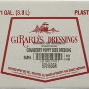Girards Cranberry Poppyseed Dressing, 1 Gallon -- 2 per case.