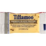 Tillamook Smoked Black Pepper White Cheddar Cheese, 0.75 Ounce -- 100 per case.