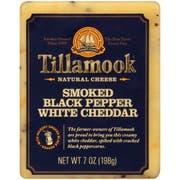 Tillamook Smoked Black Pepper White Deli Cut Cheddar Cheese, 7 Ounce -- 12 per case.