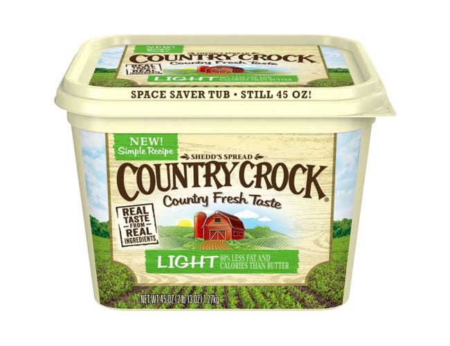 Country Crock Light Vegetable Oil Spread, 45 Ounce -- 12 per case.