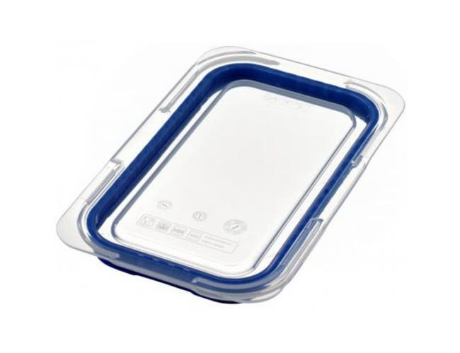 Araven Transparent GN 1/4 Airtight Container Lid Only, 10 1/2 x 6 3/8 x 7/8 inch -- 6 per case.