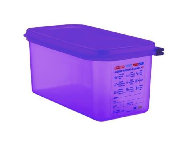 Araven Anti Allergic Polypropylene Purple GN 1/3 Airtight Container, 6.3 Quart -- 6 per case.
