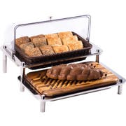 Smart Domino Basket and Cutting Board Display, 25 x 24.5 x 15.5 inch -- 1 each.