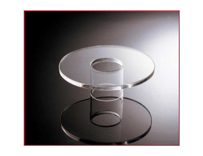 Smart Acrylic Round Platform Only, 8 inch -- 1 each.