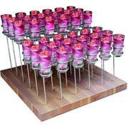 Smart Solid Wood Base 36 Spiral Treasure Stand Set with Shooter Glasses, 15.75 x 15.75 x 12 inch -- 1 each.