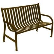 Witt Industries Brown Oakley Slatted Metal Outdoor Bench, 48 x 34 x 24 inch -- 1 each.